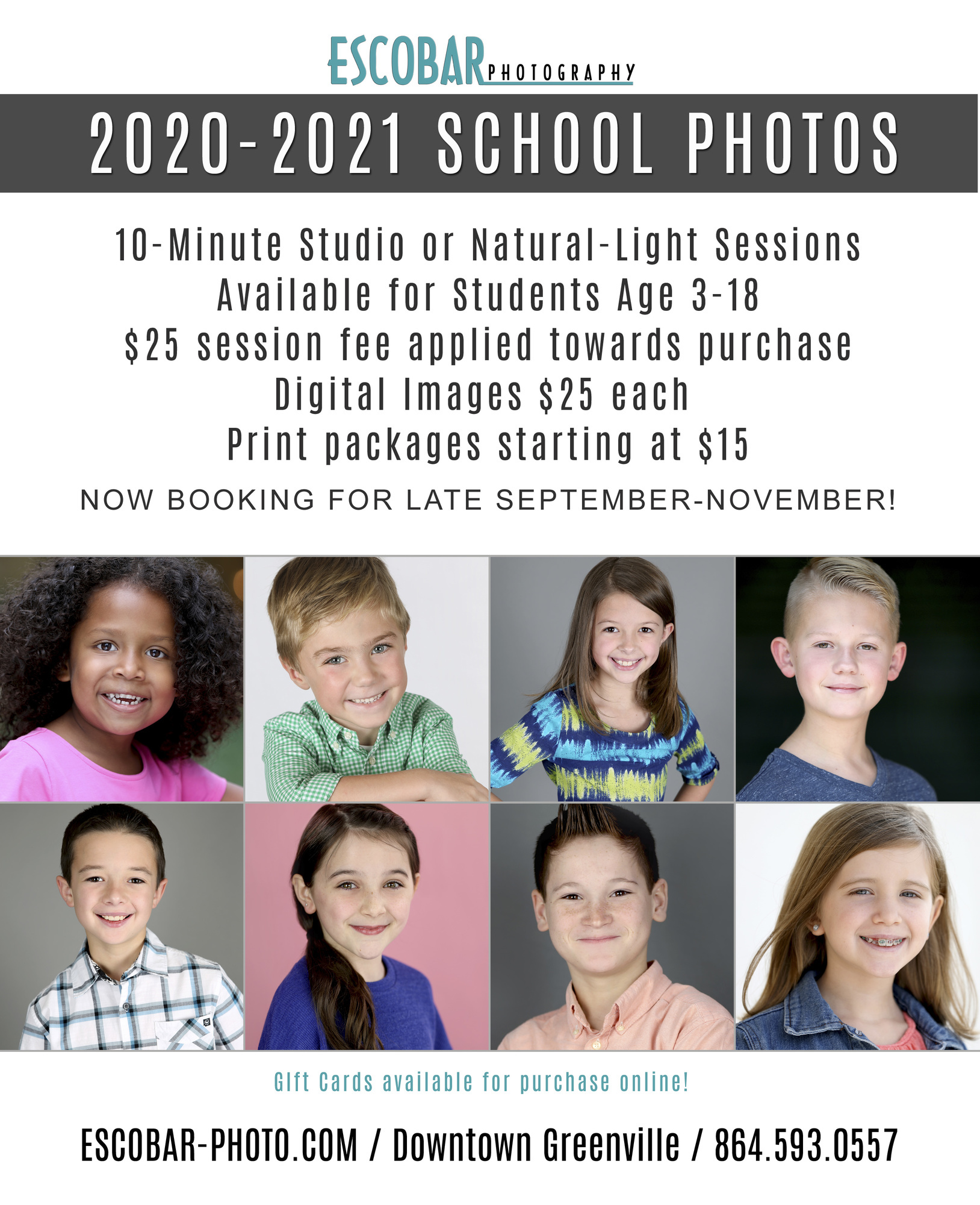 2020-2021 FALL SCHOOL MINI SESSIONS